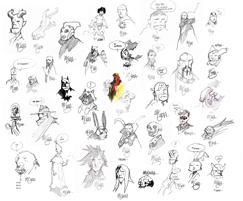 Комиксы - коллаж  - Mignola - Hellboy Обои