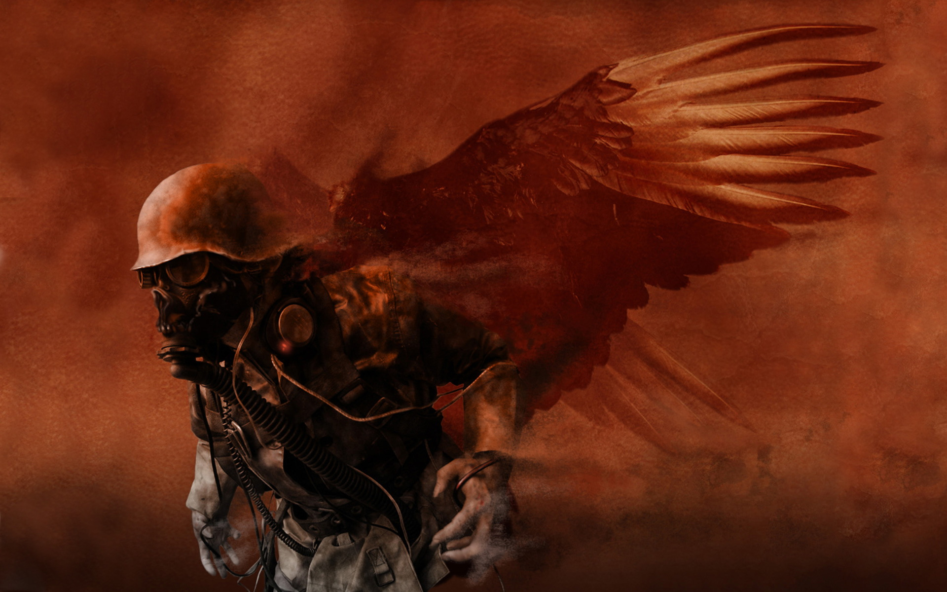 Militär - Science-Fiction  - Army Angel Hintergrundbild