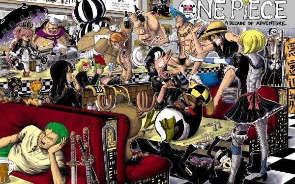 Anime One Piece Gekko Moriah Monkey D. Luffy Franky Nami Roronoa Zoro Usopp Nico Robin Sanji HD Wallpaper | Background Image