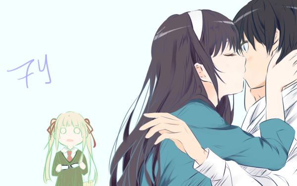 Anime Saekano: How to Raise a Boring Girlfriend Utaha Kasumigaoka Eriri Spencer Sawamura Tomoya Aki HD Wallpaper | Background Image