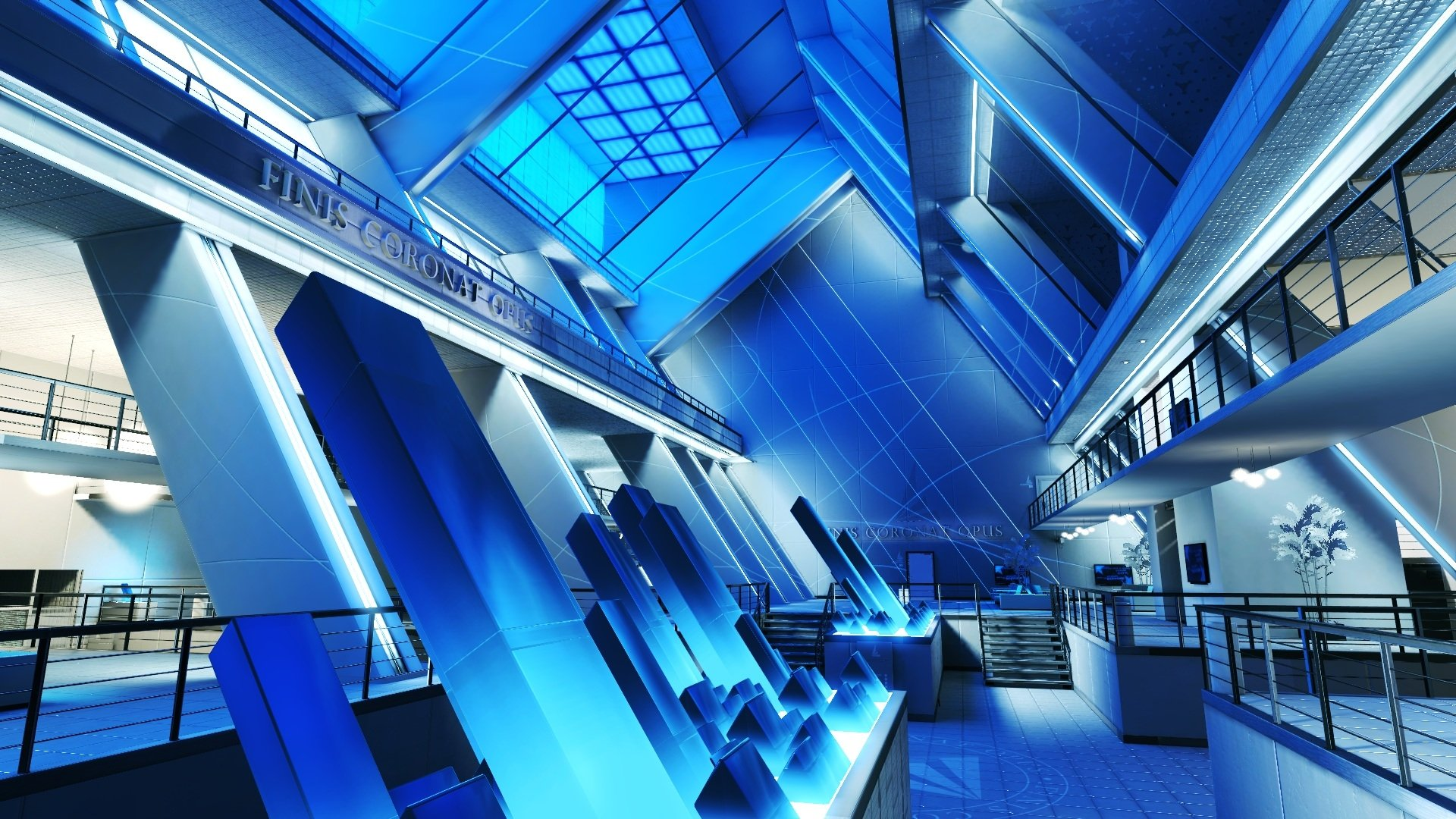 Artistic - Room  CGI Building Blue Wallpaper
