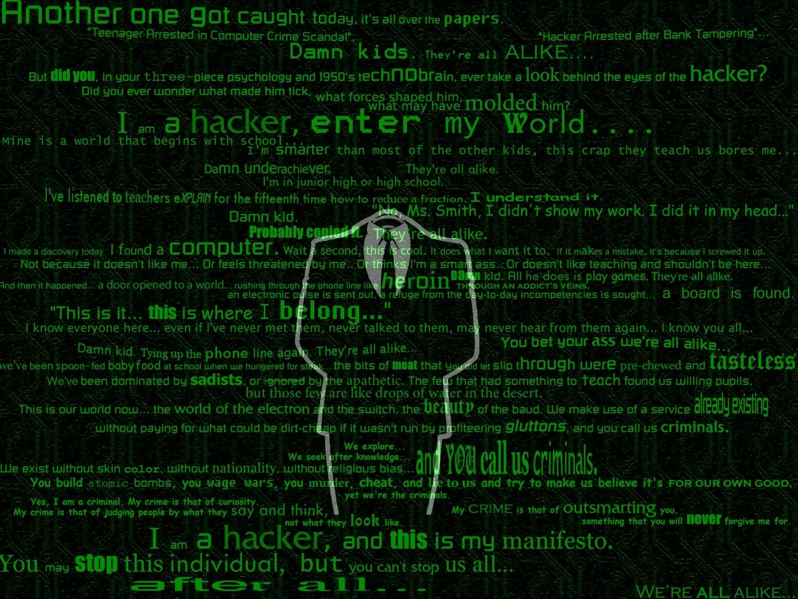 100 hacker hd wallpapers | background images - wallpaper abyss