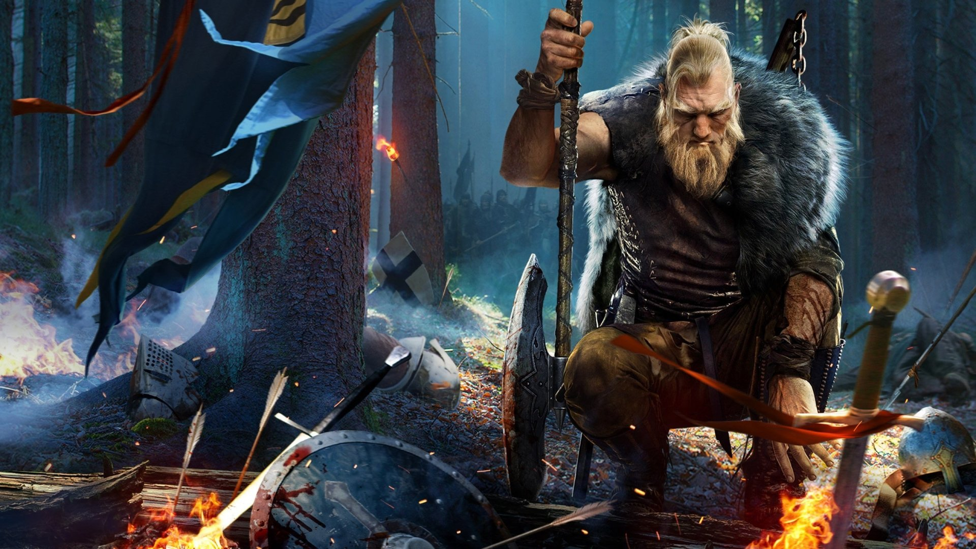 Video Game - Black Desert Online  Warrior Axe Viking Beard Sword Wallpaper