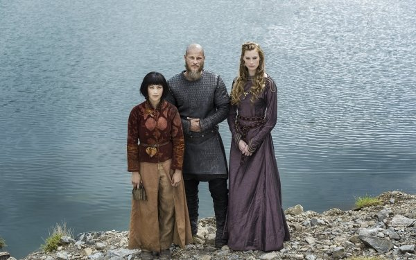 TV Show Vikings Alyssa Sutherland Travis Fimmel Dianne Doan Aslaug Ragnar Lothbrok Yidu HD Wallpaper | Background Image