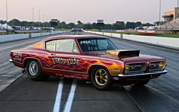Vehicles Plymouth Barracuda Plymouth Mopar Muscle Car Hot Rod Racing Drag Racing Red Car HD Wallpaper   Background Image
