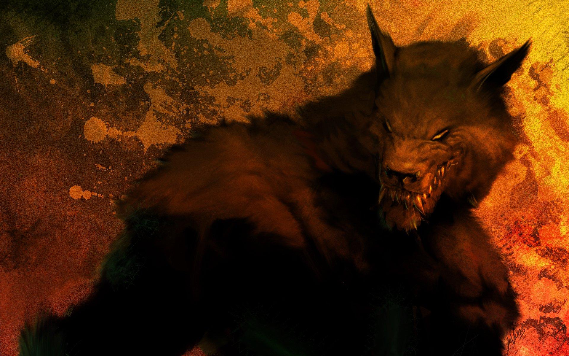 Dark - Werewolf  Dark Fantasy Wallpaper