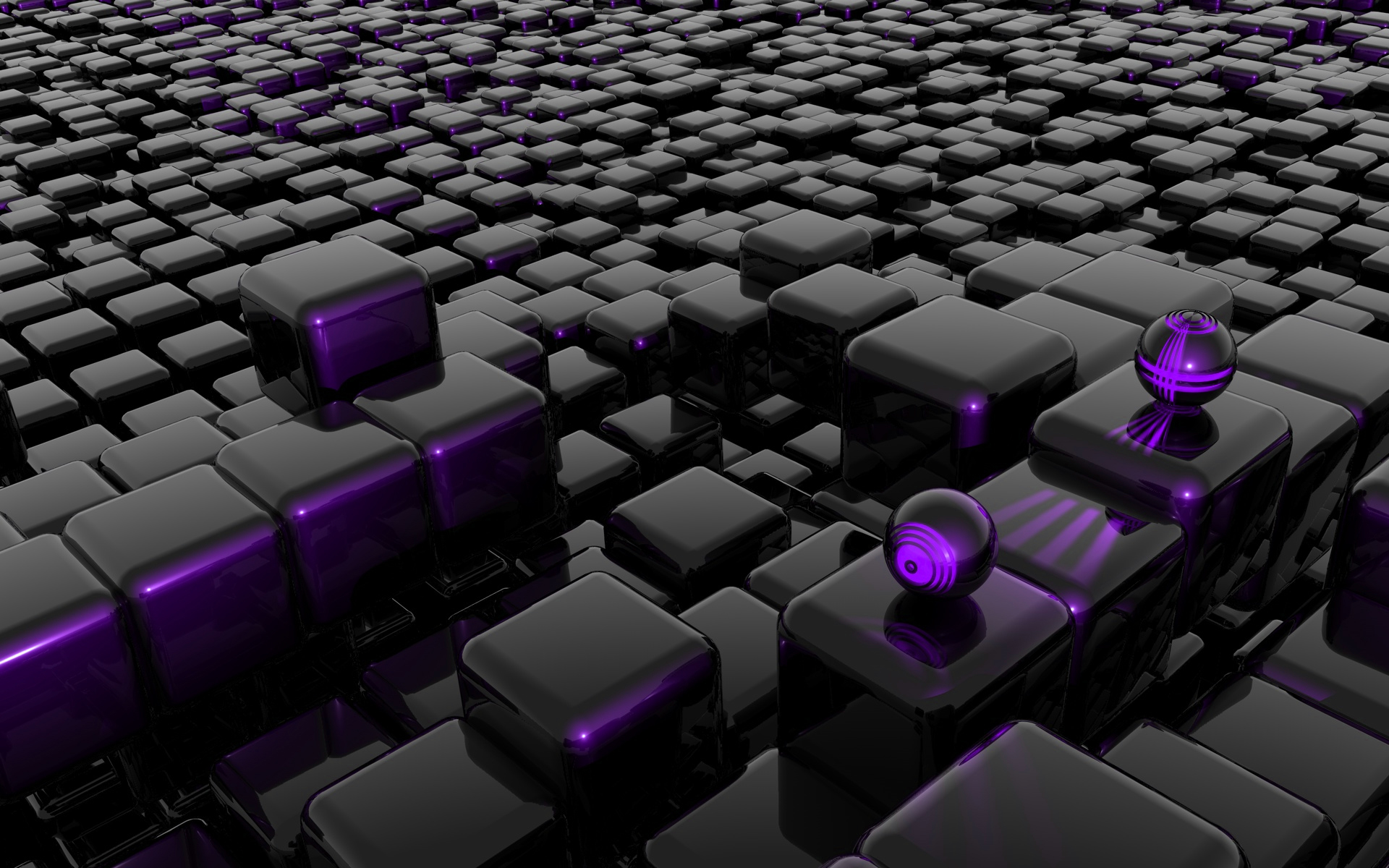 CGI - Cube  - Emachines  - Cubes - Violett - Music Wallpaper