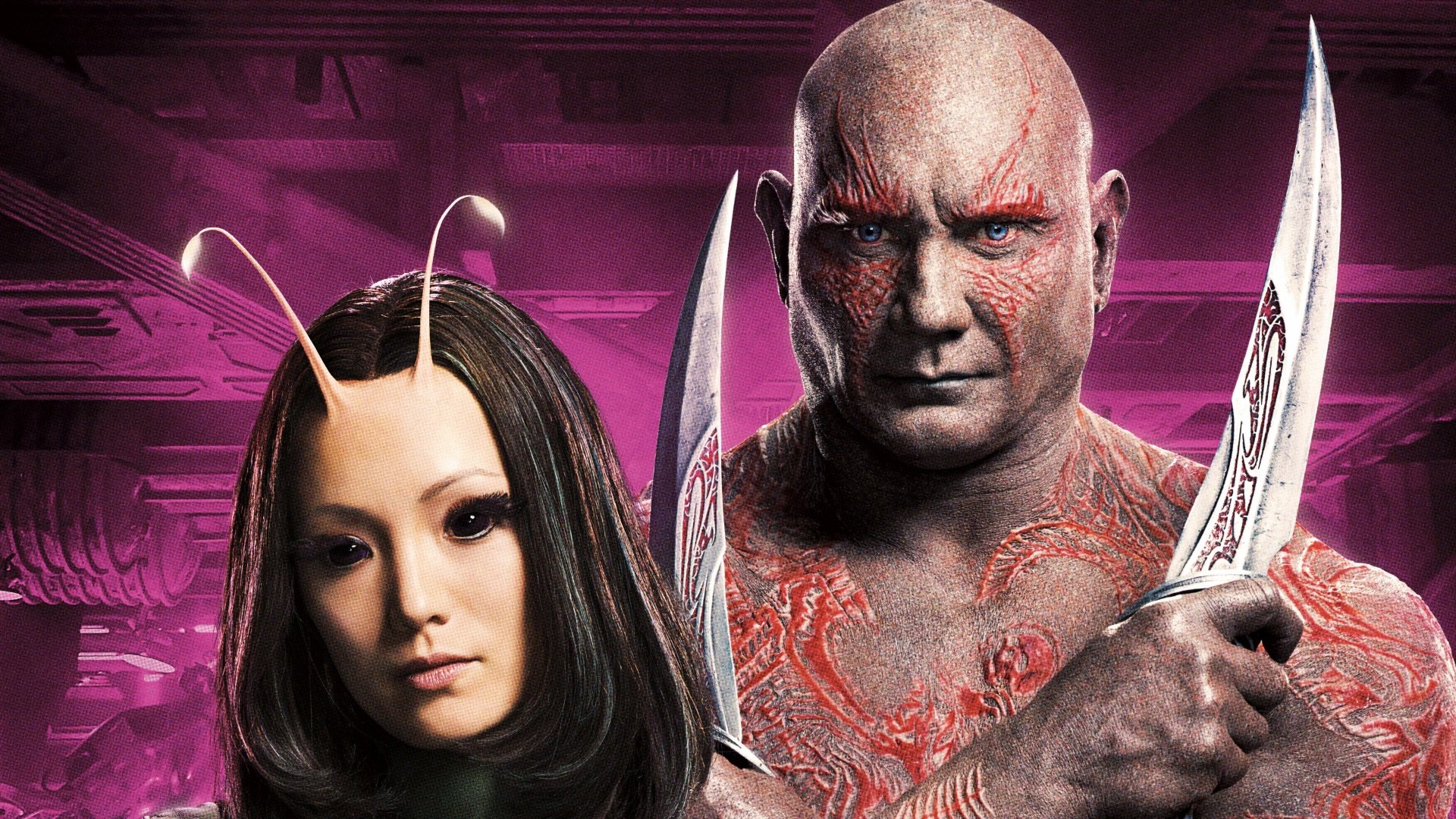 Movie - Guardians of the Galaxy Vol. 2  Dave Bautista Drax The Destroyer Mantis (Marvel Comics) Pom Klementieff Wallpaper
