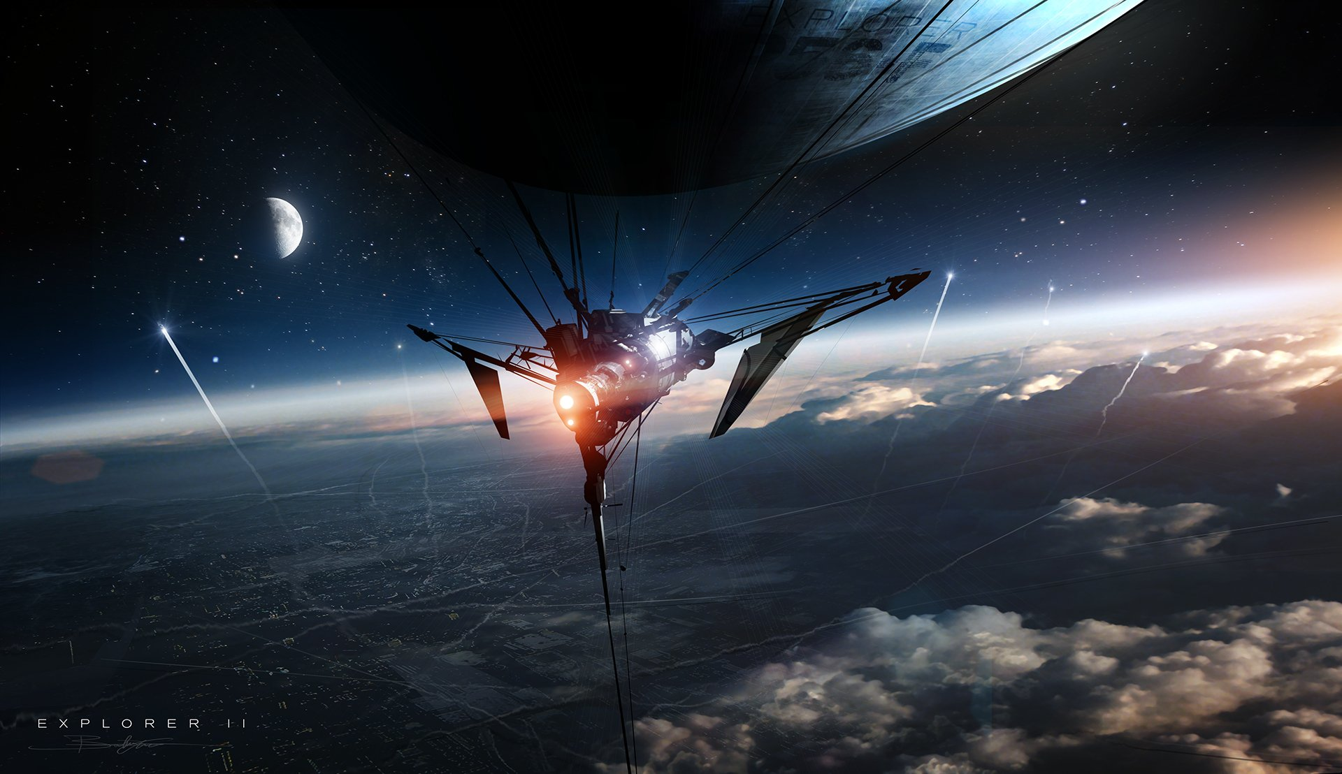 Sci Fi - Space  Sci Fi Ship Planet Spaceship Wallpaper