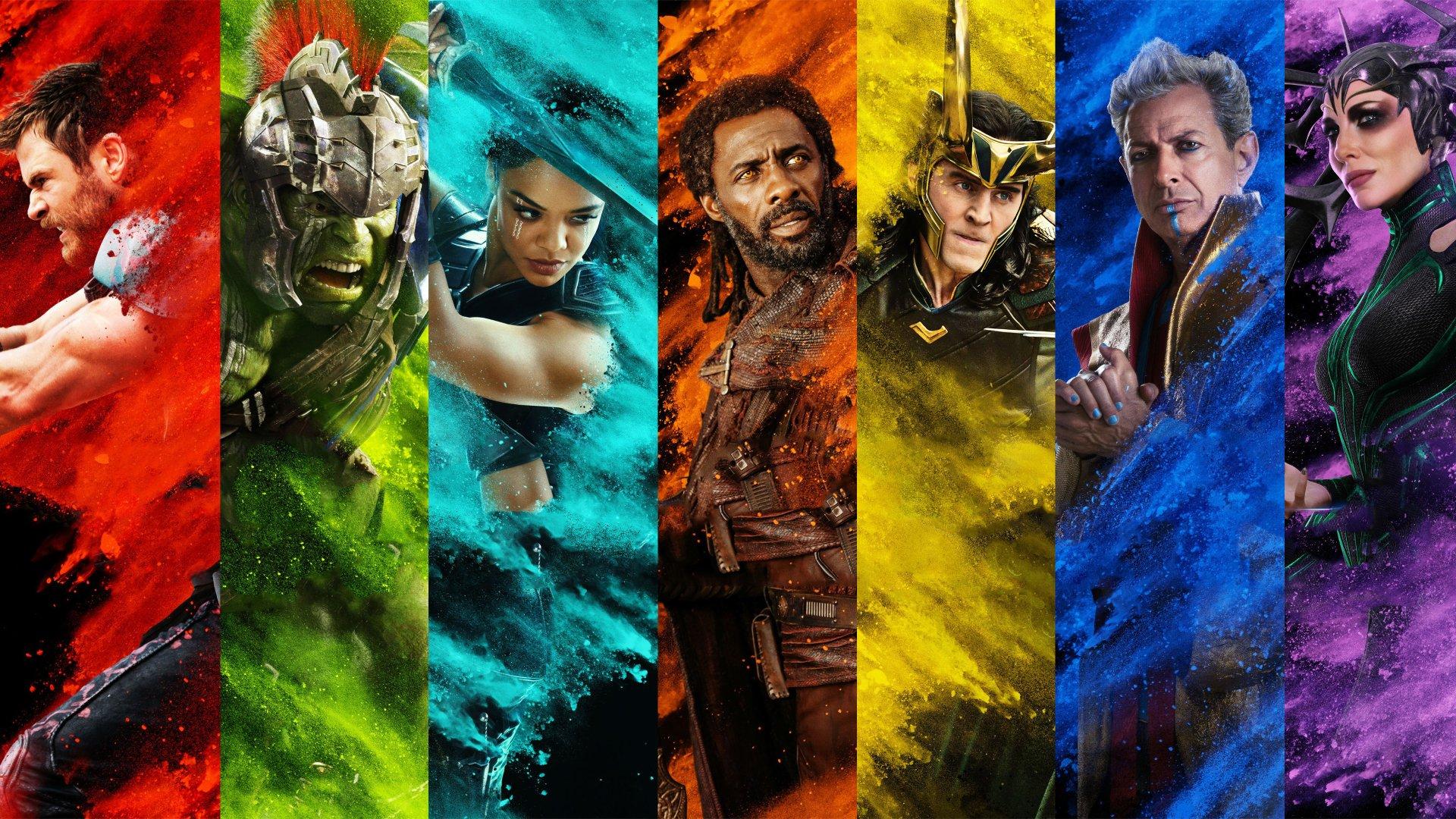 Movie - Thor: Ragnarok  Thor Hulk Chris Hemsworth Tom Hiddleston Loki Cate Blanchett Idris Elba Wallpaper