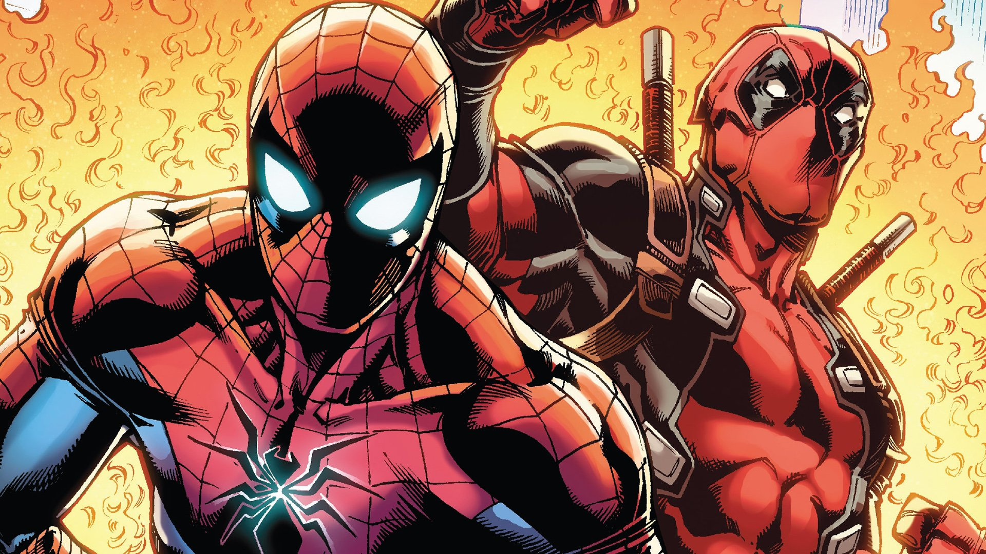 Spiderman And Deadpool HD Wallpaper