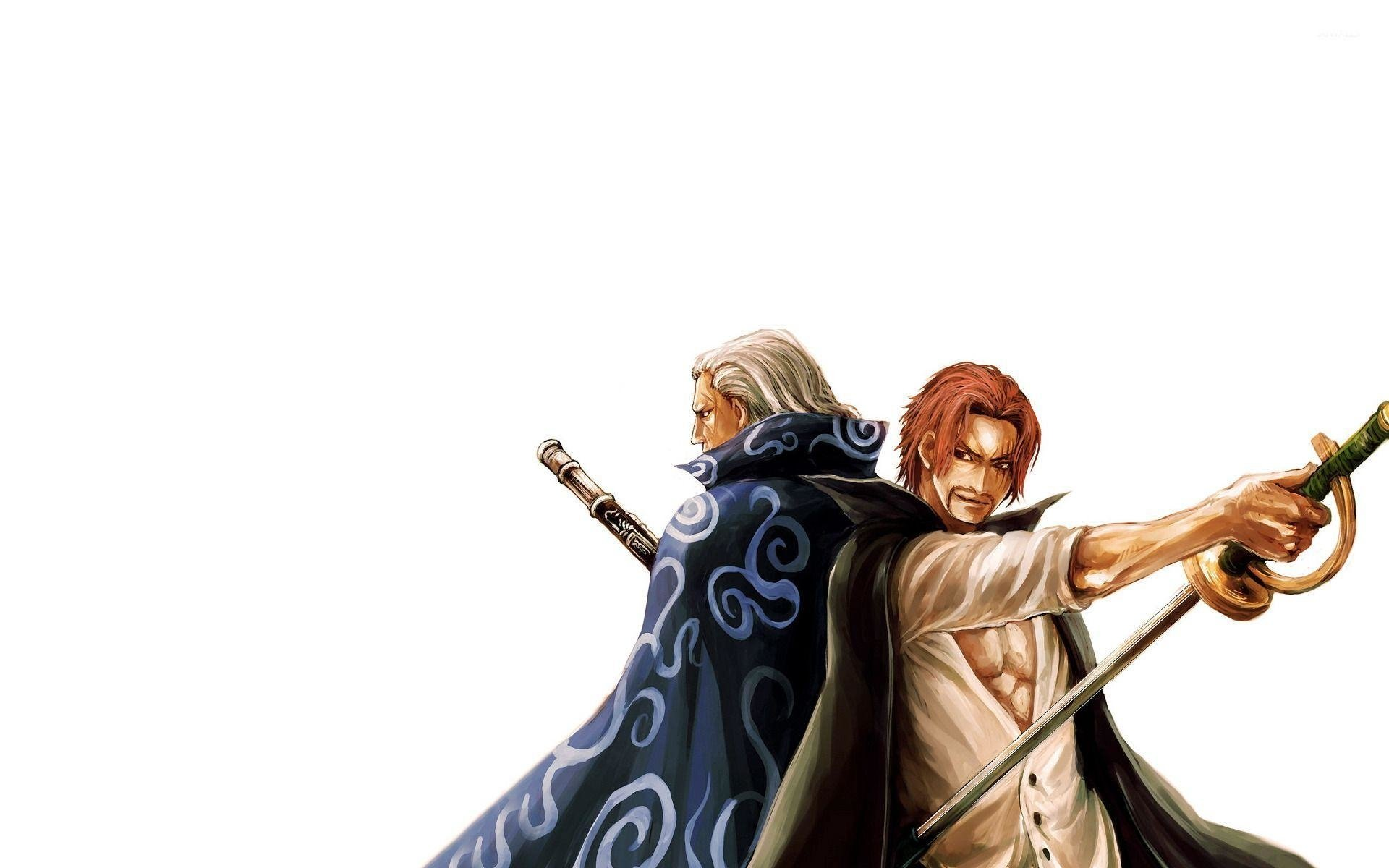 The Red Haired Pirates Captain And First Mate Hd Wallpaper