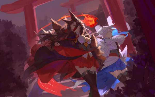 Anime Azur Lane Akagi Kaga Bilan Hangxian HD Wallpaper | Background Image