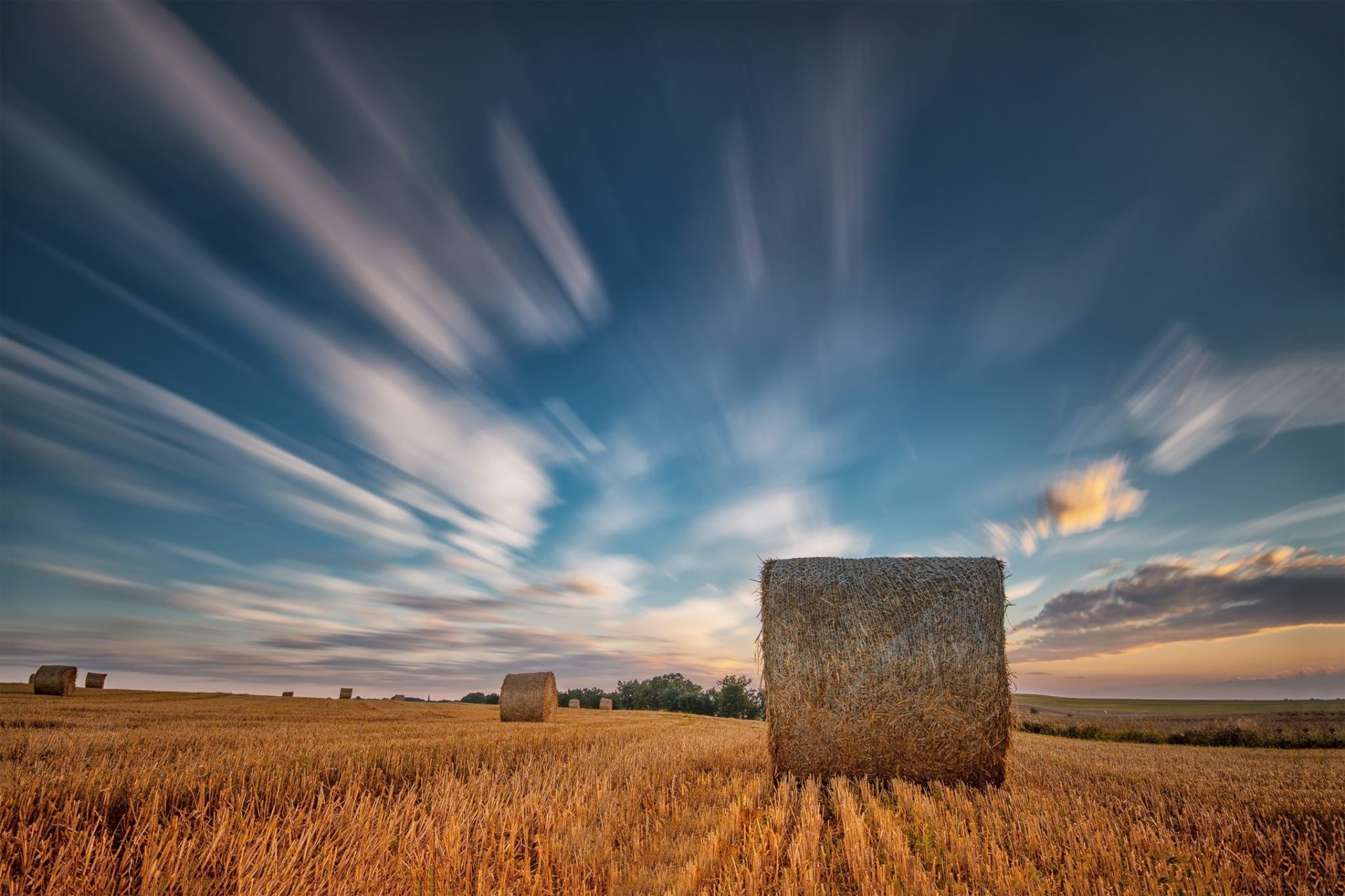 Earth - Haystack  Nature Field Summer Sky Cloud Wallpaper