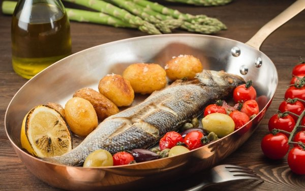 Food Fish Seafood Still Life Tomato Potato HD Wallpaper | Background Image
