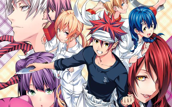Anime Food Wars: Shokugeki no Soma Erina Nakiri Sōma Yukihira Megumi Tadokoro Rindō Kobayashi Hisako Arato Momo Akanegakubo HD Wallpaper | Background Image