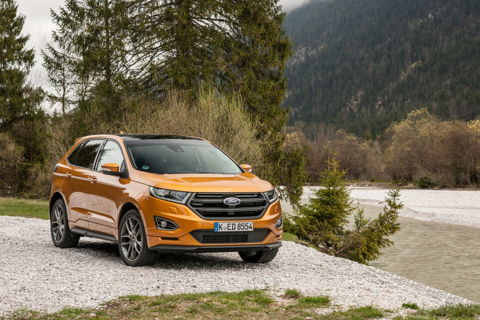 Vehicles - Ford Edge  Ford Car Vehicle Orange Car SUV Wallpaper