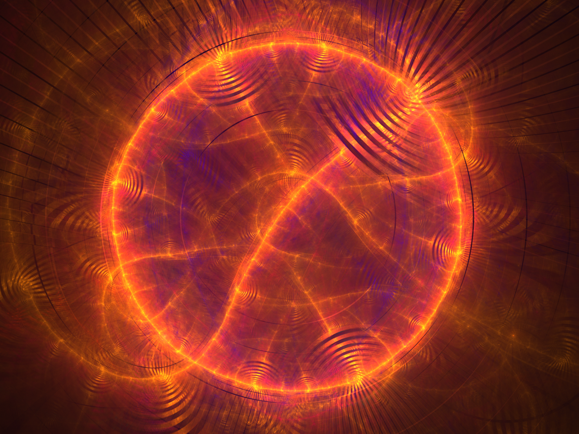 Abstract - Fractal  Orange Shapes Apophysis (software) Digital Art Artistic Circle Abstract Wallpaper