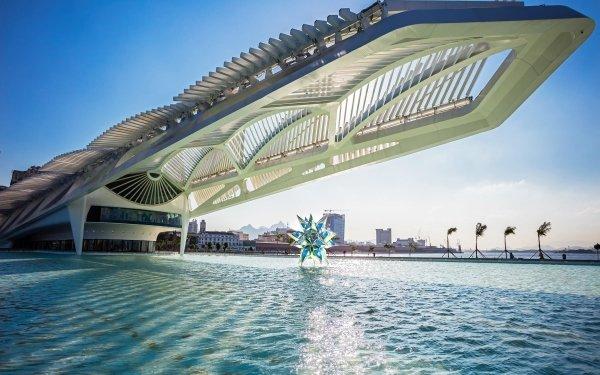 Man Made Pool Architecture Rio de Janeiro Brazil Building HD Wallpaper | Background Image