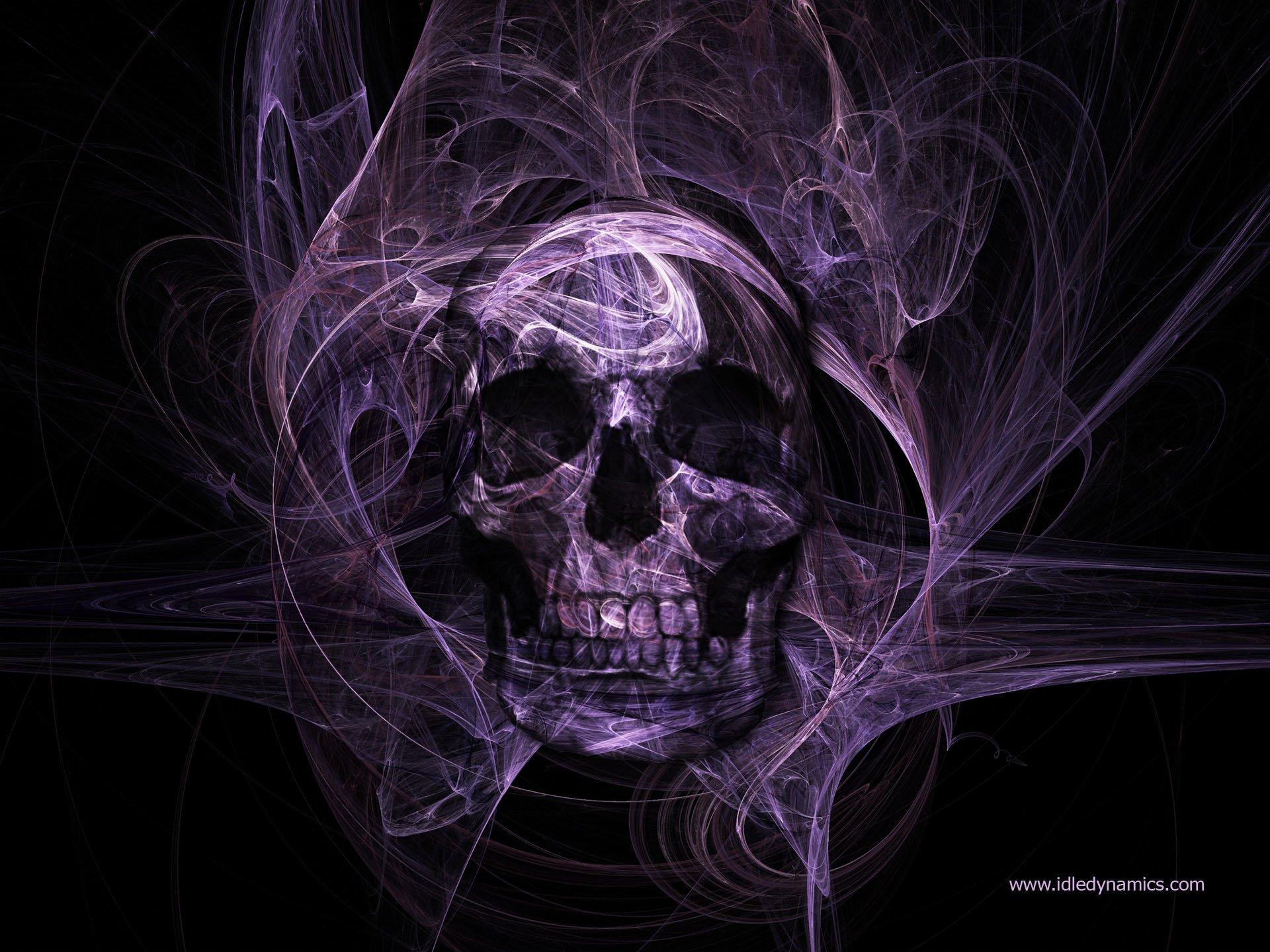 Dark - Skull  Dark Colors Purple Wallpaper