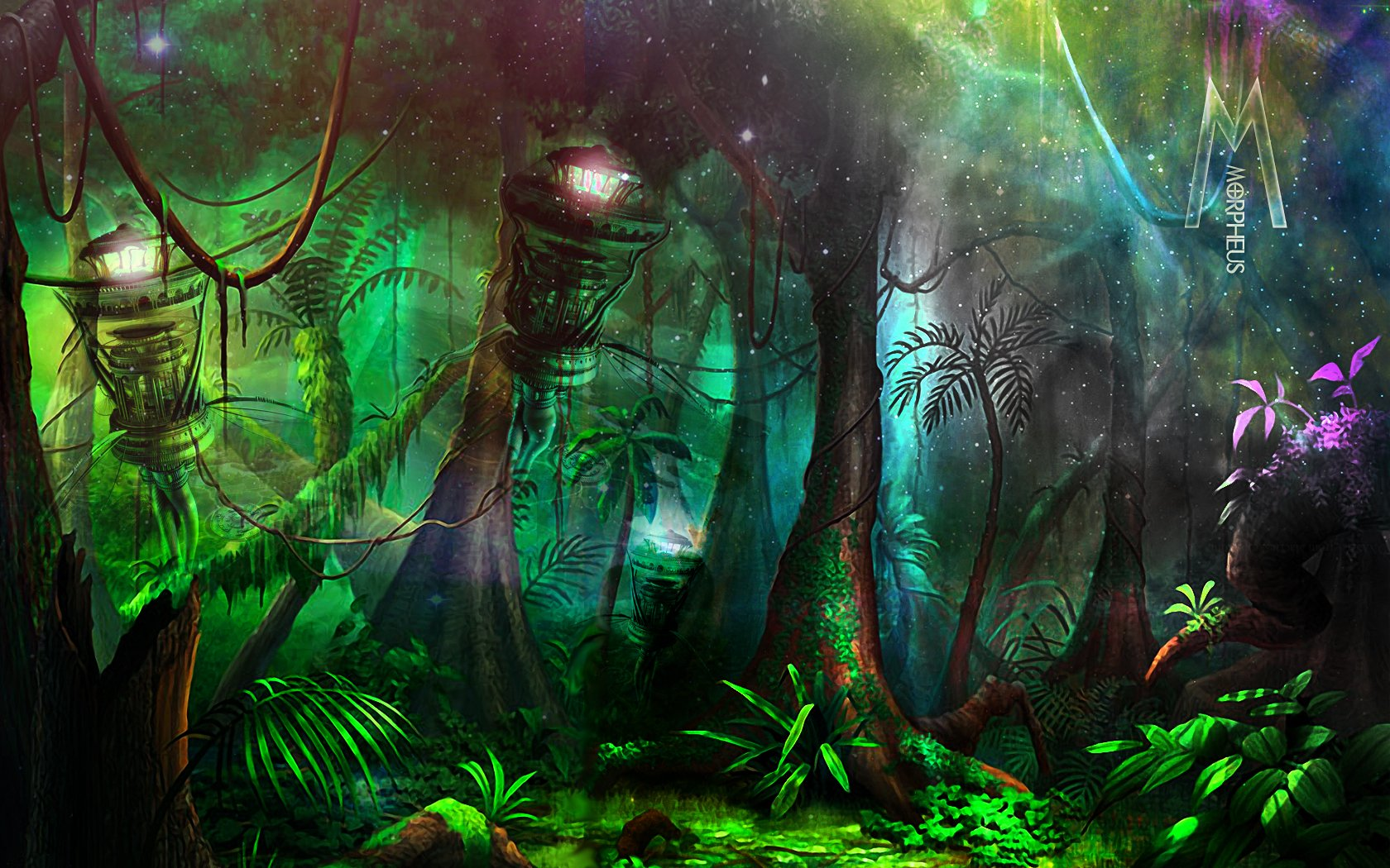 Artistic - Painting  Forest Wallpaper