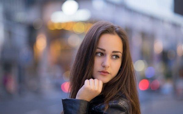 Women Model Models Face Depth Of Field Brunette Hazel Eyes Bokeh HD Wallpaper   Background Image