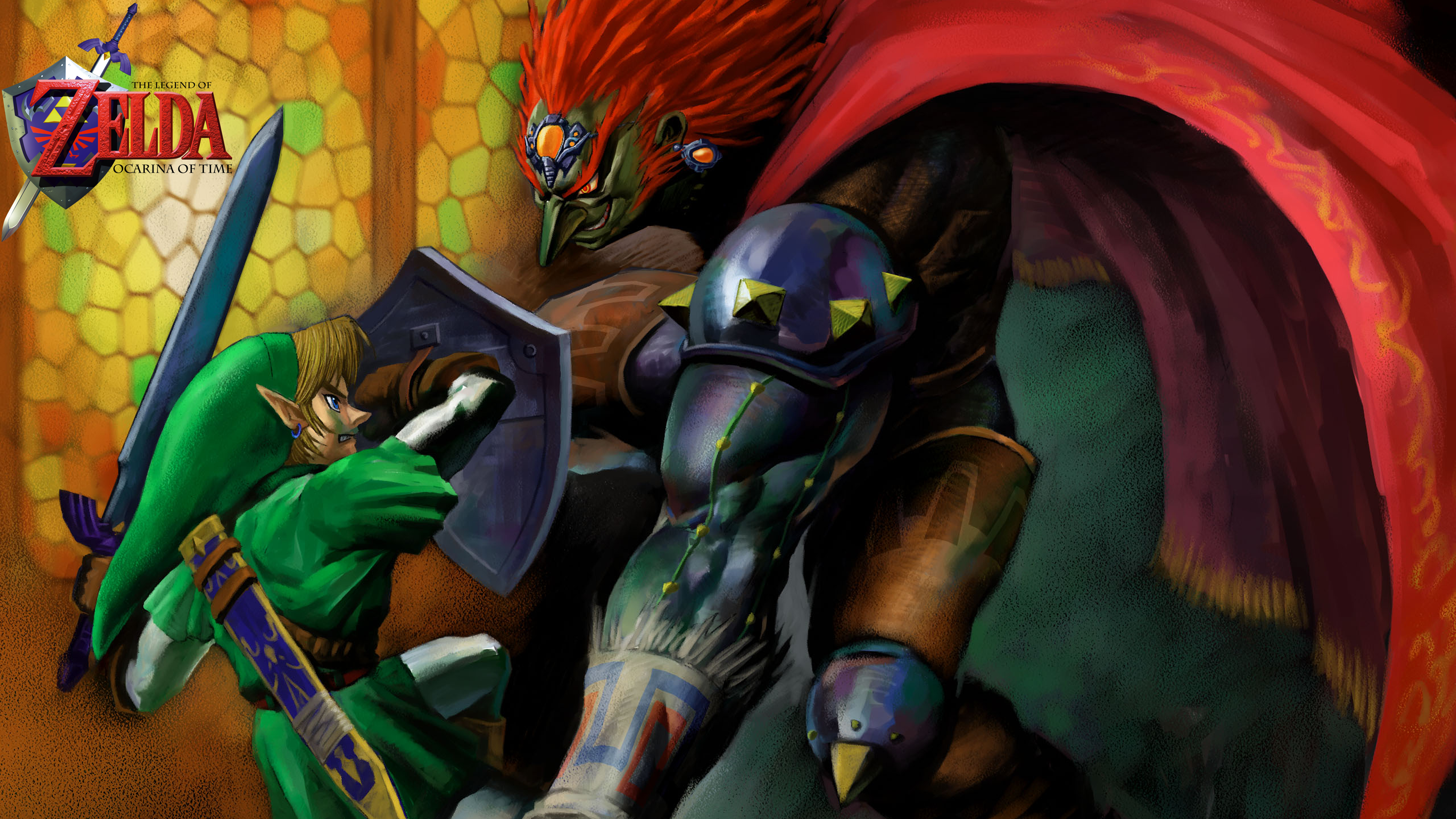 The Legend Of Zelda Ocarina Time Ganondorf Vs Link 4K Wallpaper