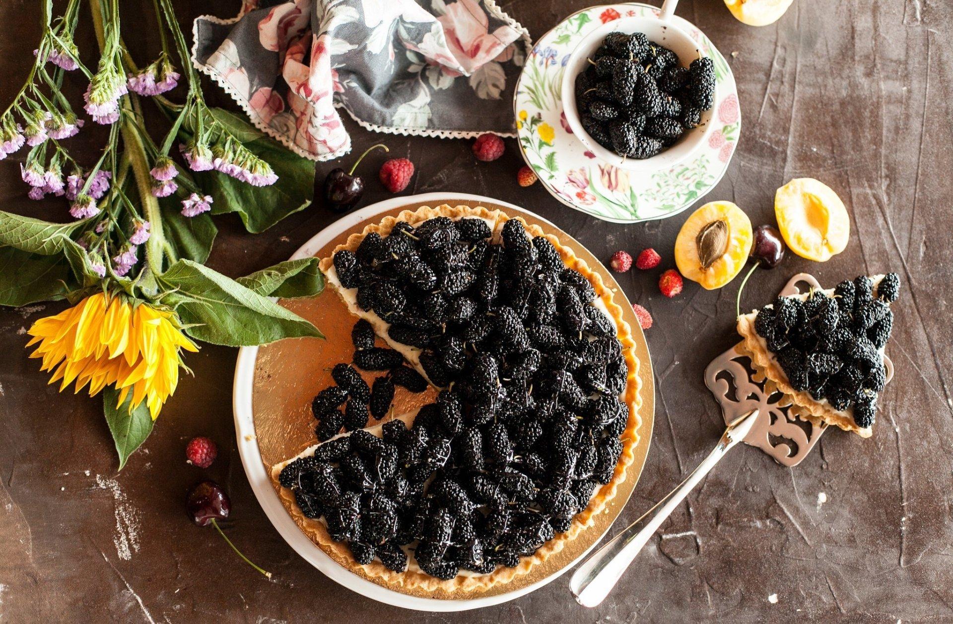 Food - Pie  Still Life Fruit Pastry Blackberry Wallpaper