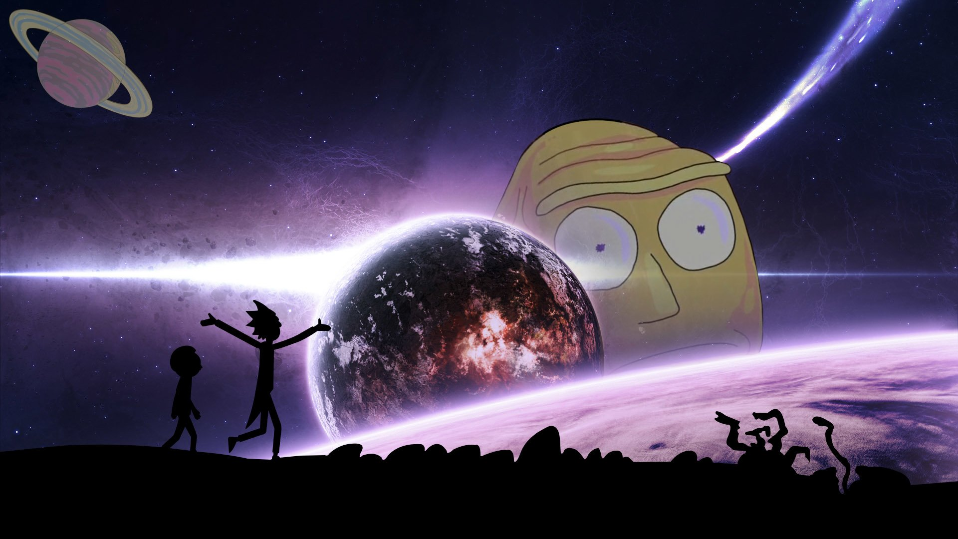 Rick_and Mory_Space HD Wallpaper