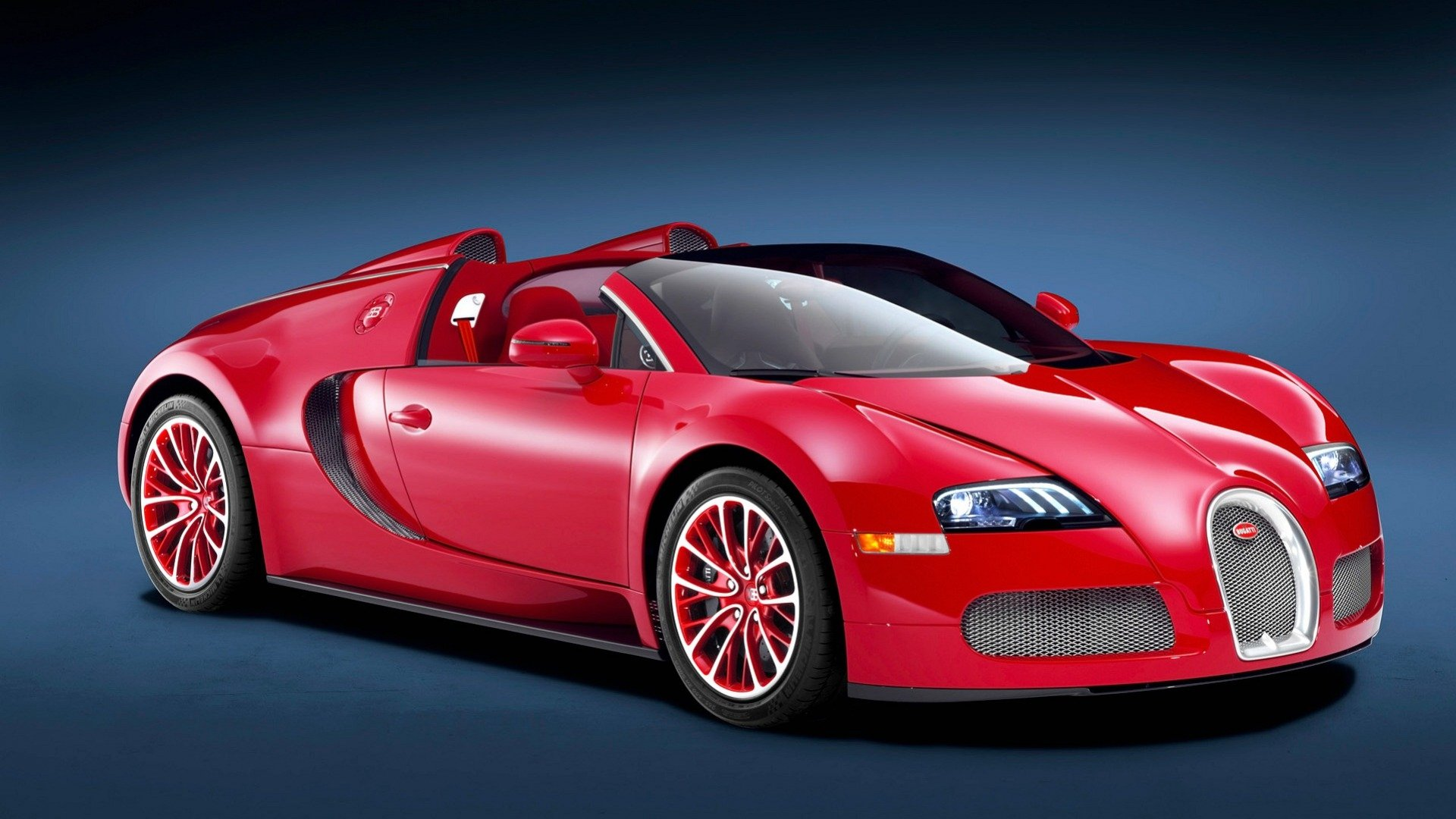 Vehicles - Bugatti Veyron 16.4 Grand Sport  Red Car Sport Car Convertible Wallpaper