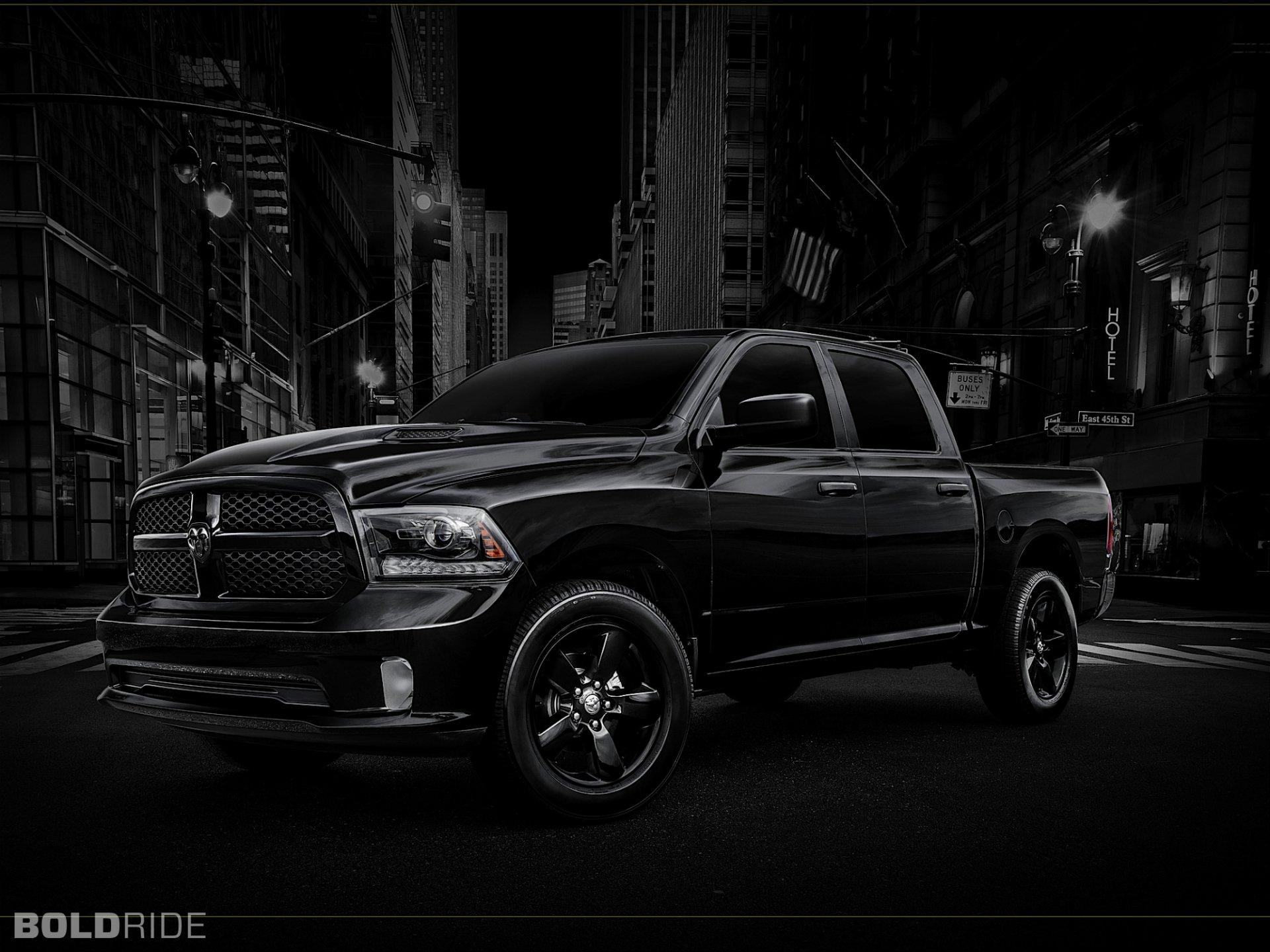 Pojazdy - Ciężarowe  Dodge Mopar Dodge Ram 1500 Czarny Miasto Tapeta