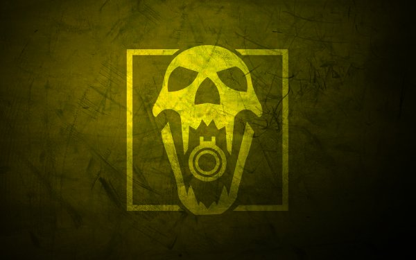 Video Game Tom Clancy's Rainbow Six: Siege Blackbeard Minimalist Operation Dust Line Yellow Skull HD Wallpaper   Background Image