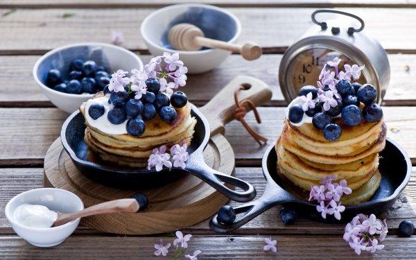 Food Pancake Still Life Breakfast Blueberry Fruit Berry HD Wallpaper   Background Image