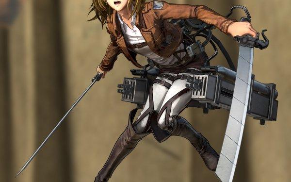 Anime Attack On Titan Historia Reiss Girl Blonde Blue Eyes Weapon Uniform HD Wallpaper   Background Image