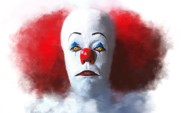 Movie It (1990) Artistic Painting Pennywise It HD Wallpaper | Background Image