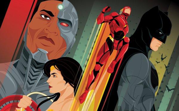 Movie Justice League Cyborg Wonder Woman Flash Batman HD Wallpaper | Background Image