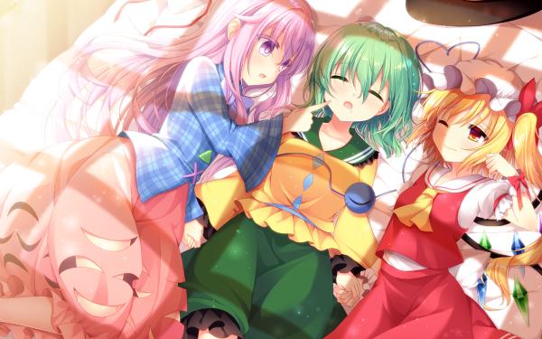 Anime Touhou Flandre Scarlet Hata no Kokoro Koishi Komeiji HD Wallpaper | Background Image