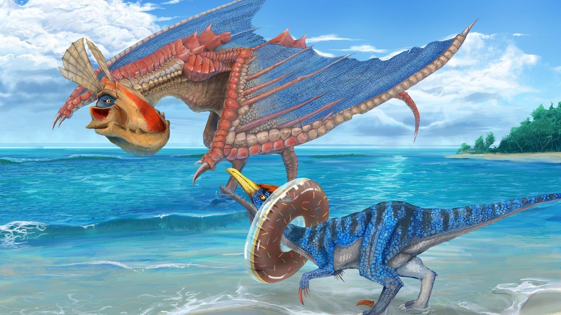 Video Game - Monster Hunter  Creature Ocean Yian Kut-Ku (Monster Hunter) Velocidrome (Monster Hunter) Wallpaper