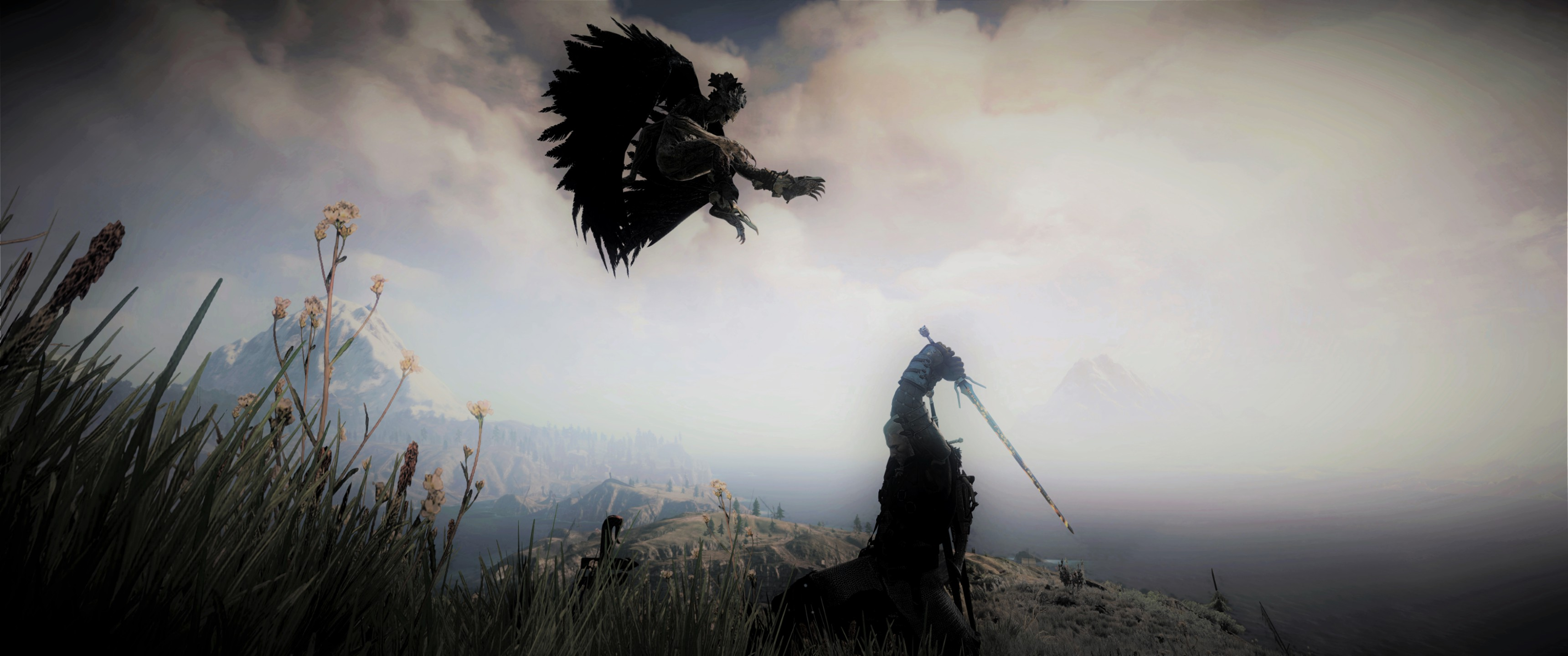 Skellige fight hd wallpaper background image 3440x1440 - Fantasy wallpaper 3440x1440 ...