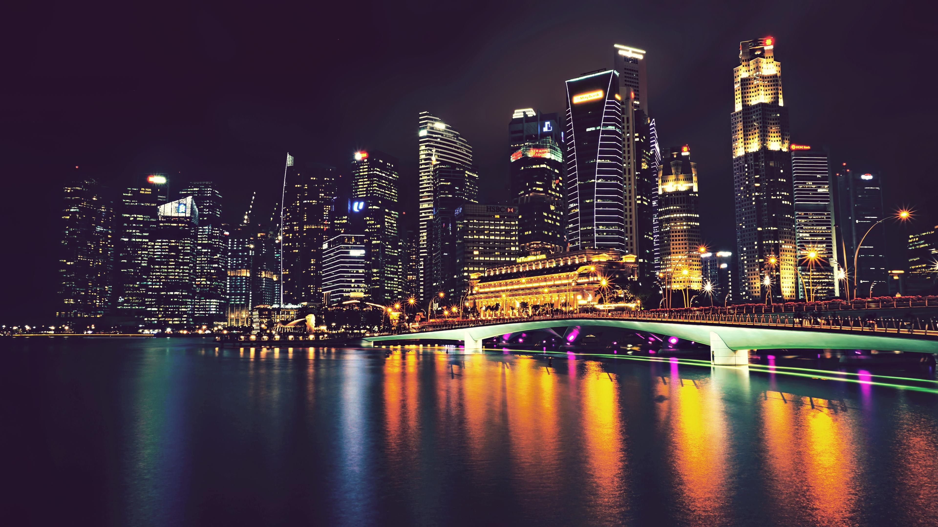 Singapore 4k Ultra HD Wallpaper | Background Image ...