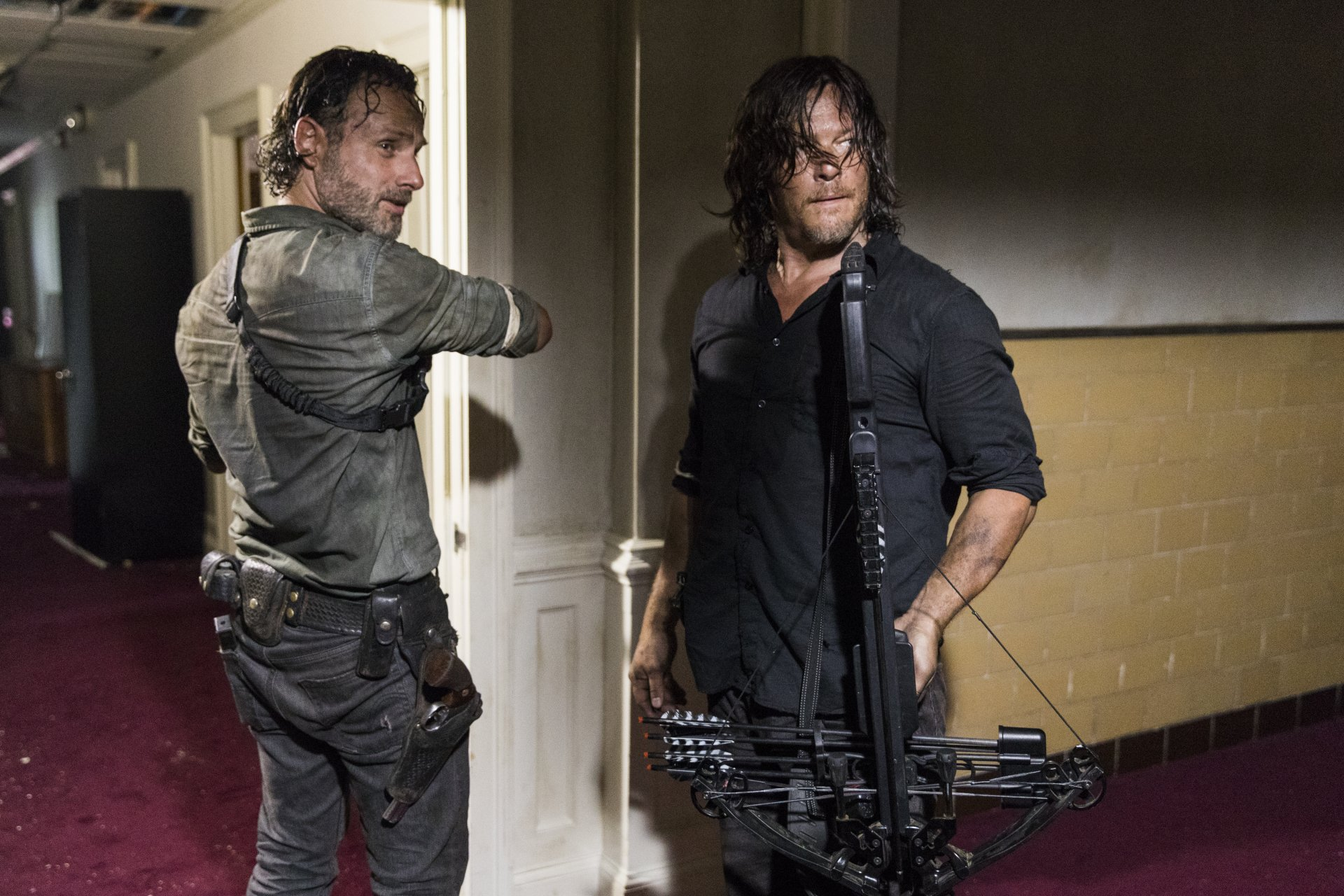 TV Show - The Walking Dead  Andrew Lincoln Rick Grimes Norman Reedus Daryl Dixon Wallpaper
