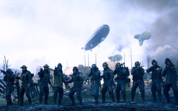 Video Game Battlefield 1 Battlefield Soldier Zeppelin World War I HD Wallpaper   Background Image
