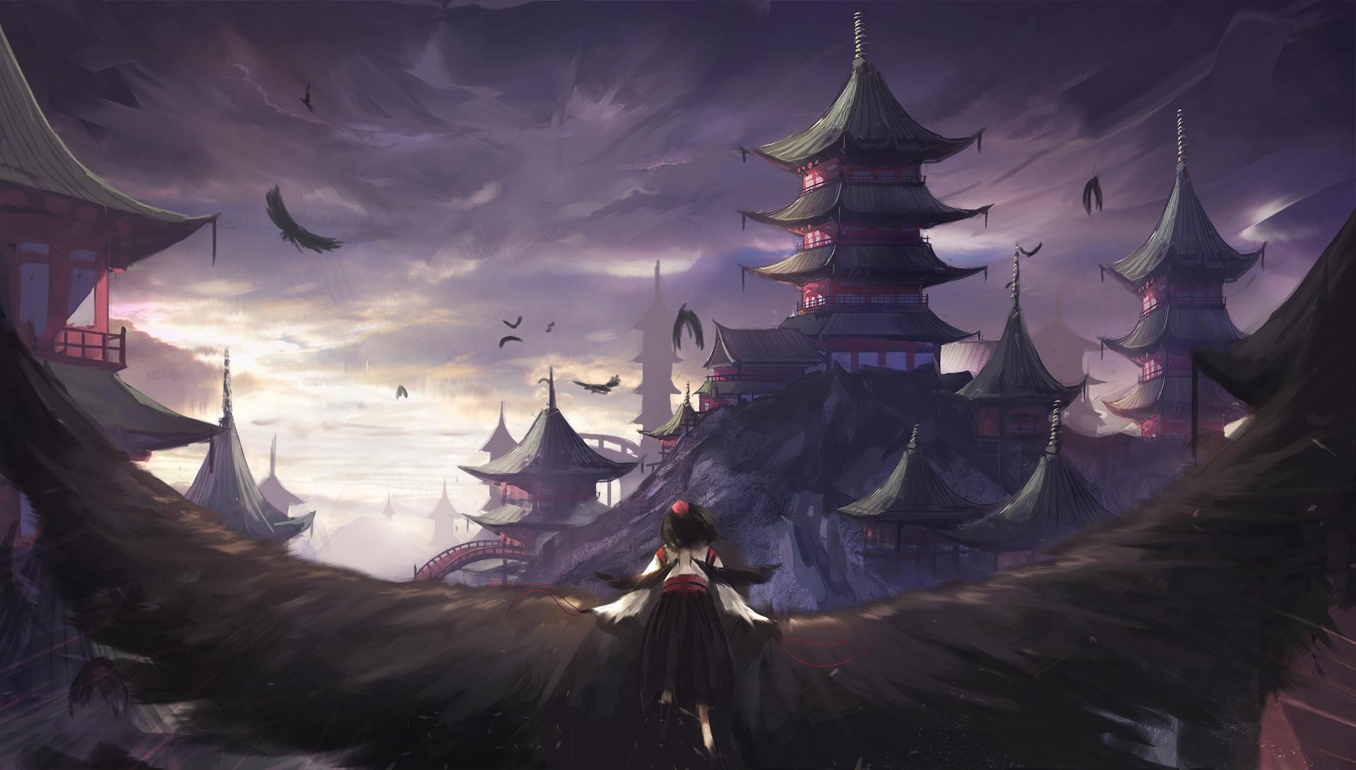 Anime - Touhou  Aya Shameimaru Fond d'écran