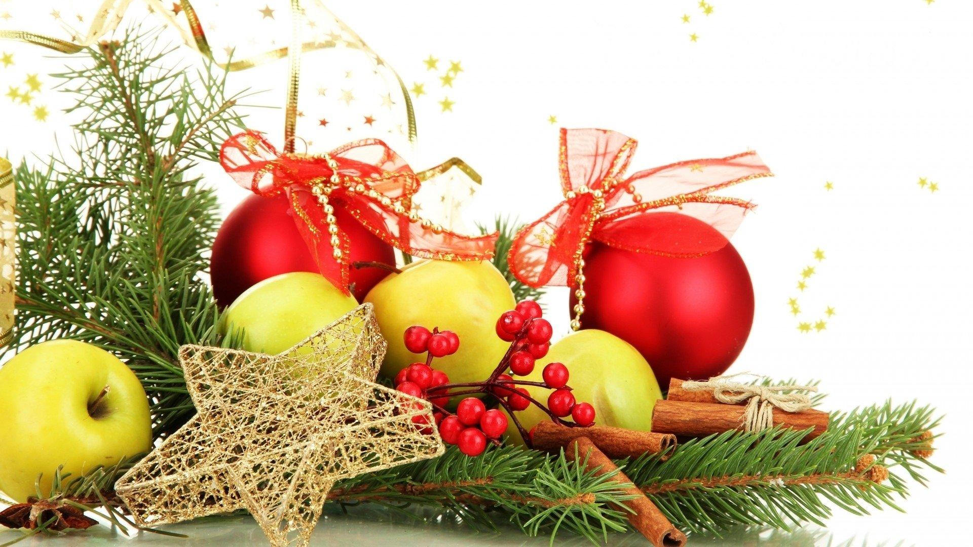 食物 - 苹果  圣诞节 Decoration Star Cinnamon Bauble 壁纸