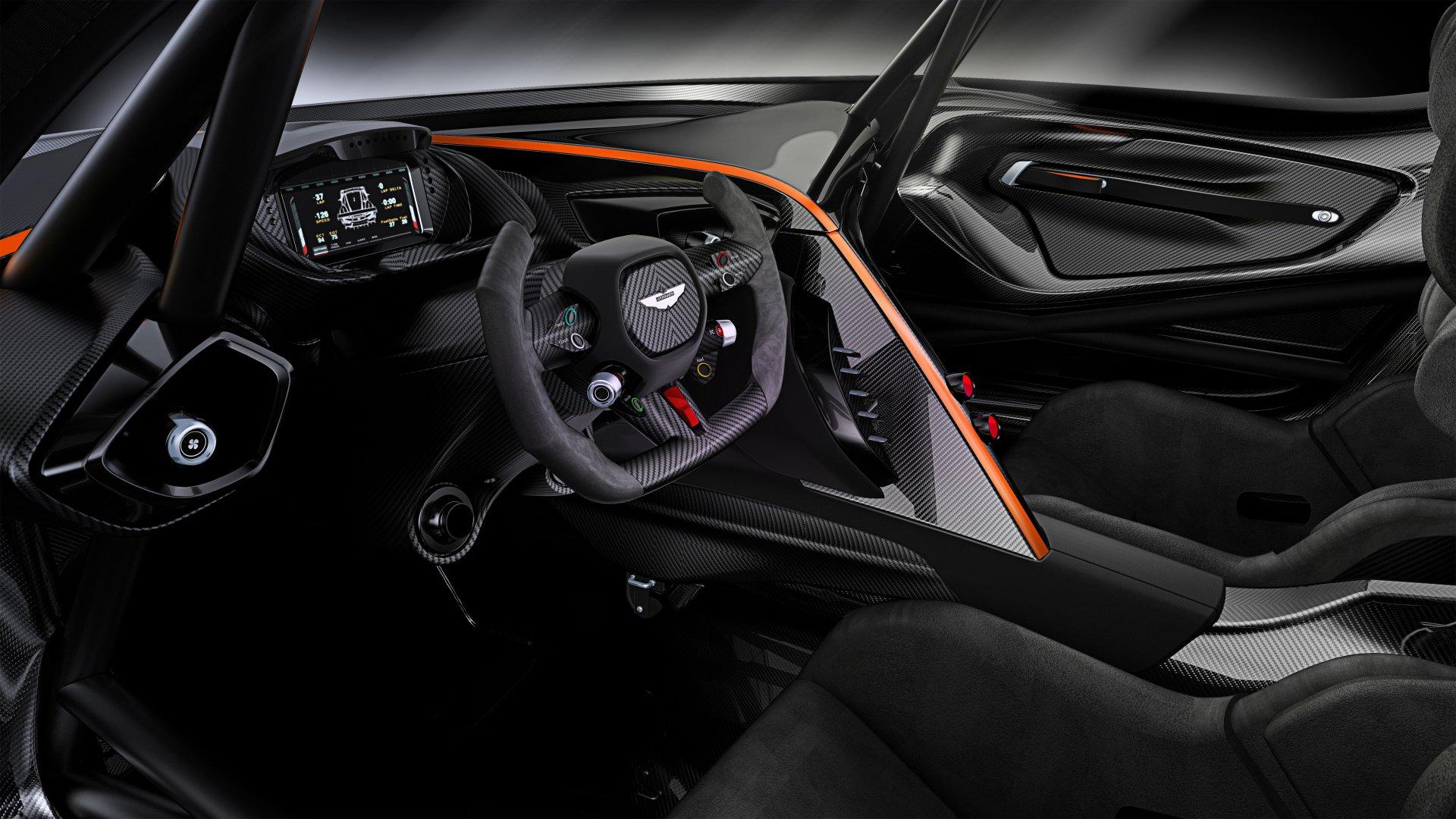 Vehicles - Aston Martin Vulcan  Aston Martin Car Interior Steering Wheel Wallpaper