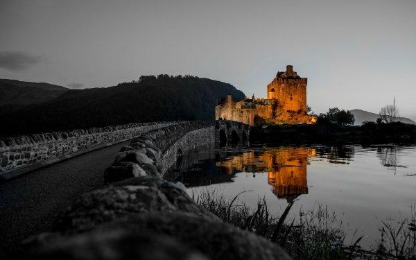 Man Made Eilean Donan Castle Castles United Kingdom Castle Reflection Scotland HD Wallpaper | Background Image