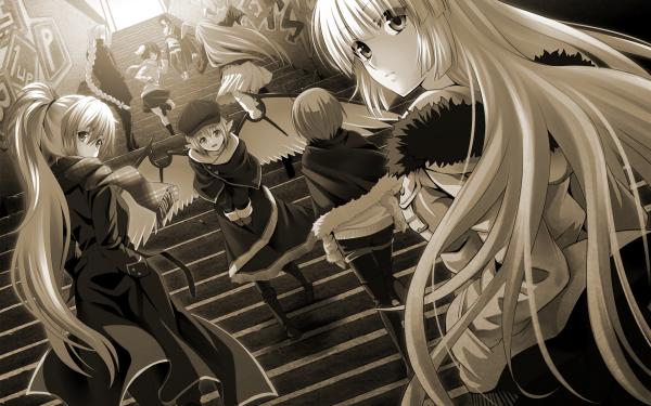 Anime Touhou Fujiwara no Mokou Kaguya Houraisan Tewi Inaba Keine Kamishirasawa Mystia Lorelei Reisen Udongein Inaba Wriggle Nightbug Eirin Yagokoro HD Wallpaper | Background Image