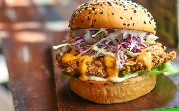 Food Burger Lunch Meal Hamburger HD Wallpaper | Background Image