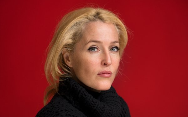Celebrity Gillian Anderson Actresses United States Actress Blonde Face HD Wallpaper | Background Image