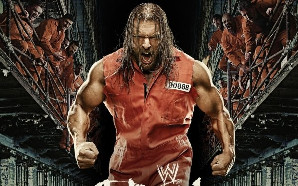 Sports Triple H WWE Wrestler Brown Hair Angry Prison Muscle HD Wallpaper | Background Image